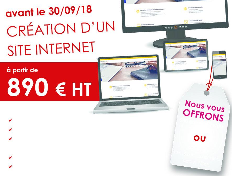 Un site internet pour 890 €HT