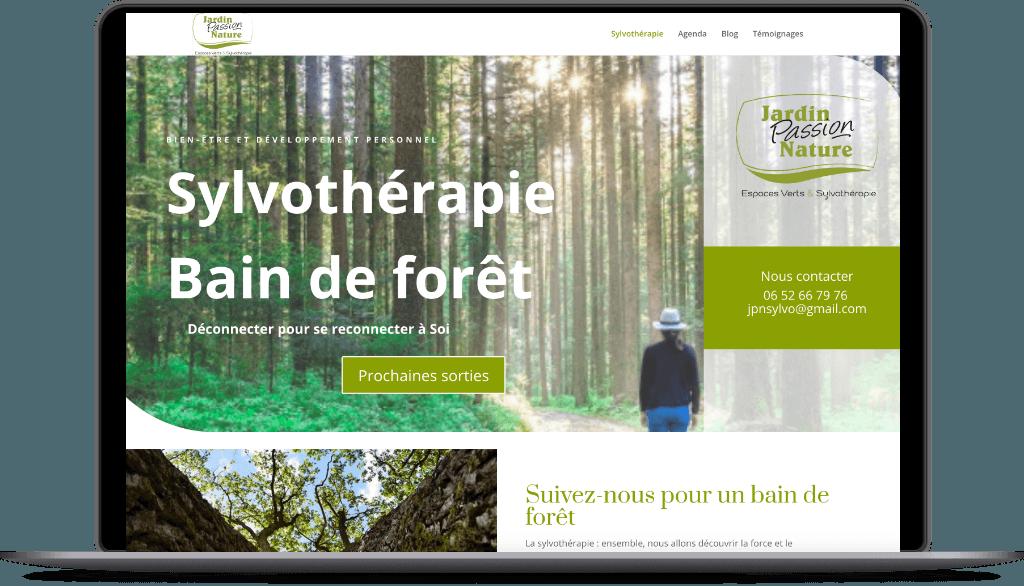 Création d'un site internet pour présenter la Sylvothérapie